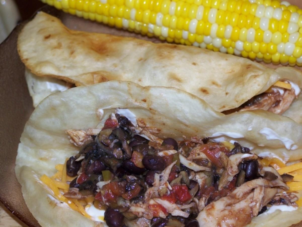 Corn on The Cob and A Taco.