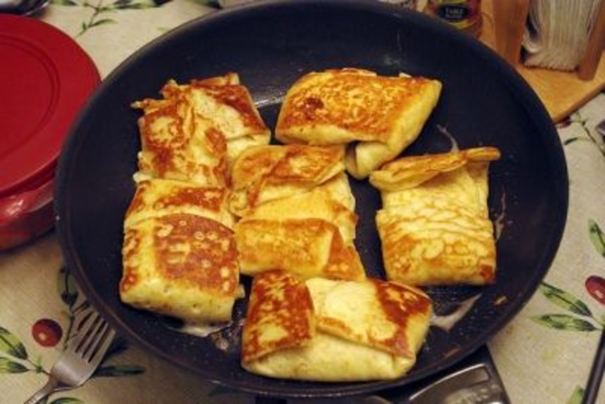 Easy and Delicious Cheese-filled Blintzes