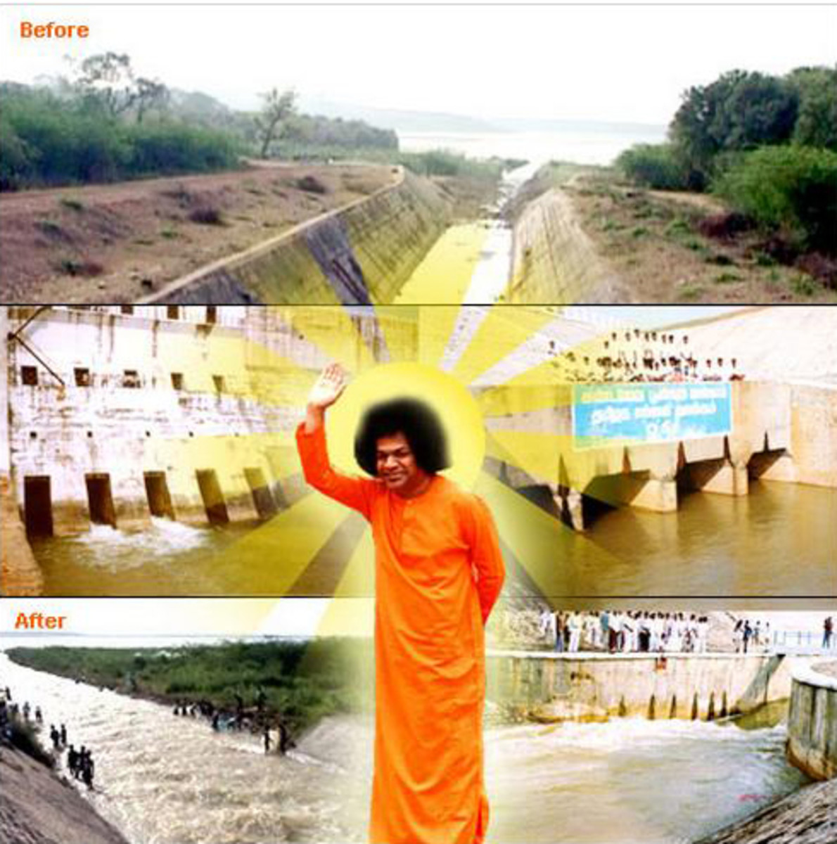 Water reaches the thirsty city of Chennai with Divine Grace...