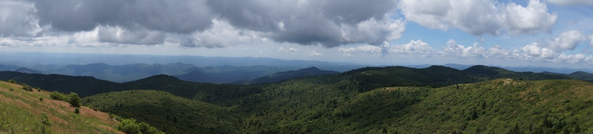 The view from atop Black Balsam.