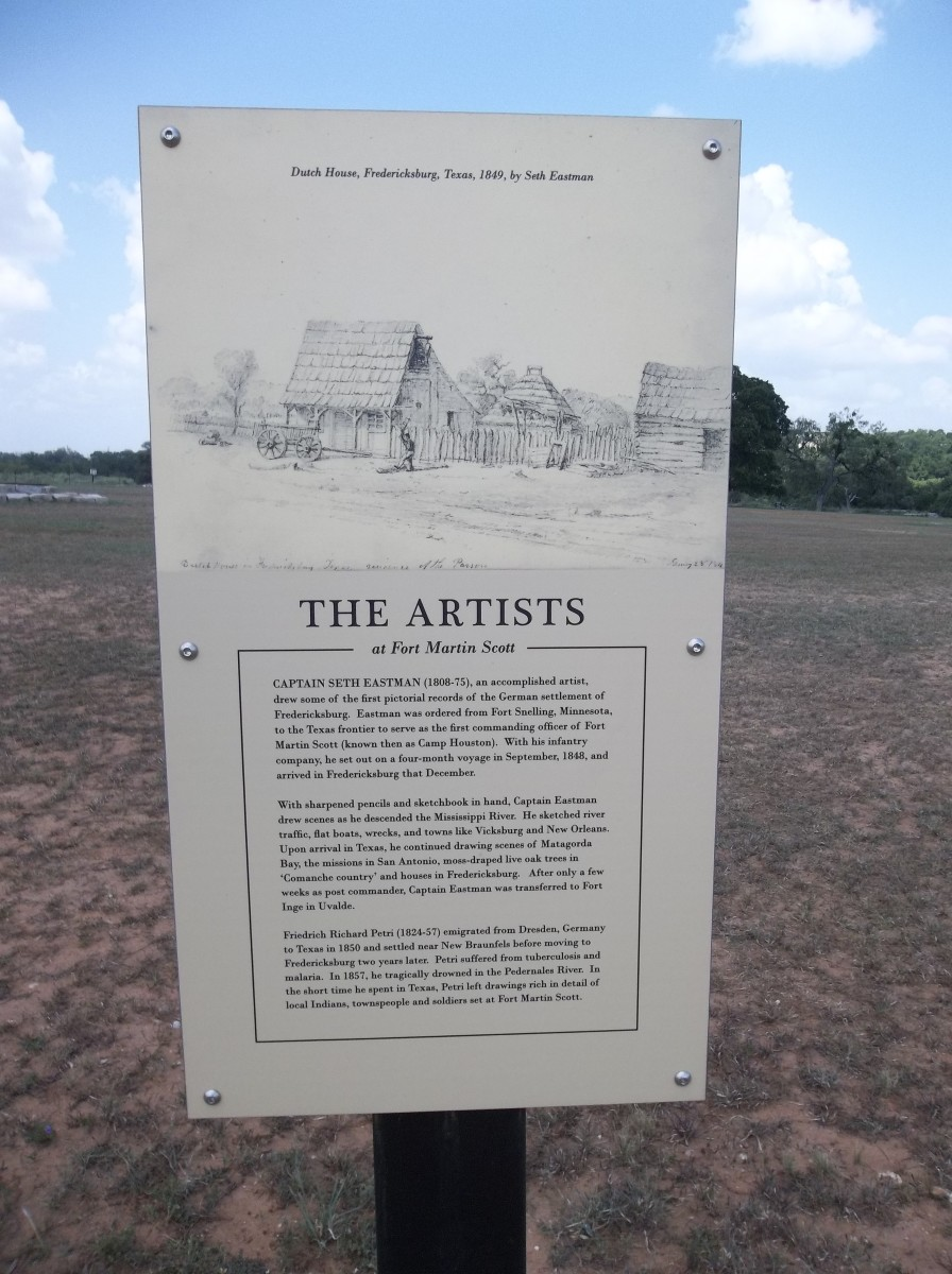 Signs such as these tell the unique story of Fort Martin Scott.