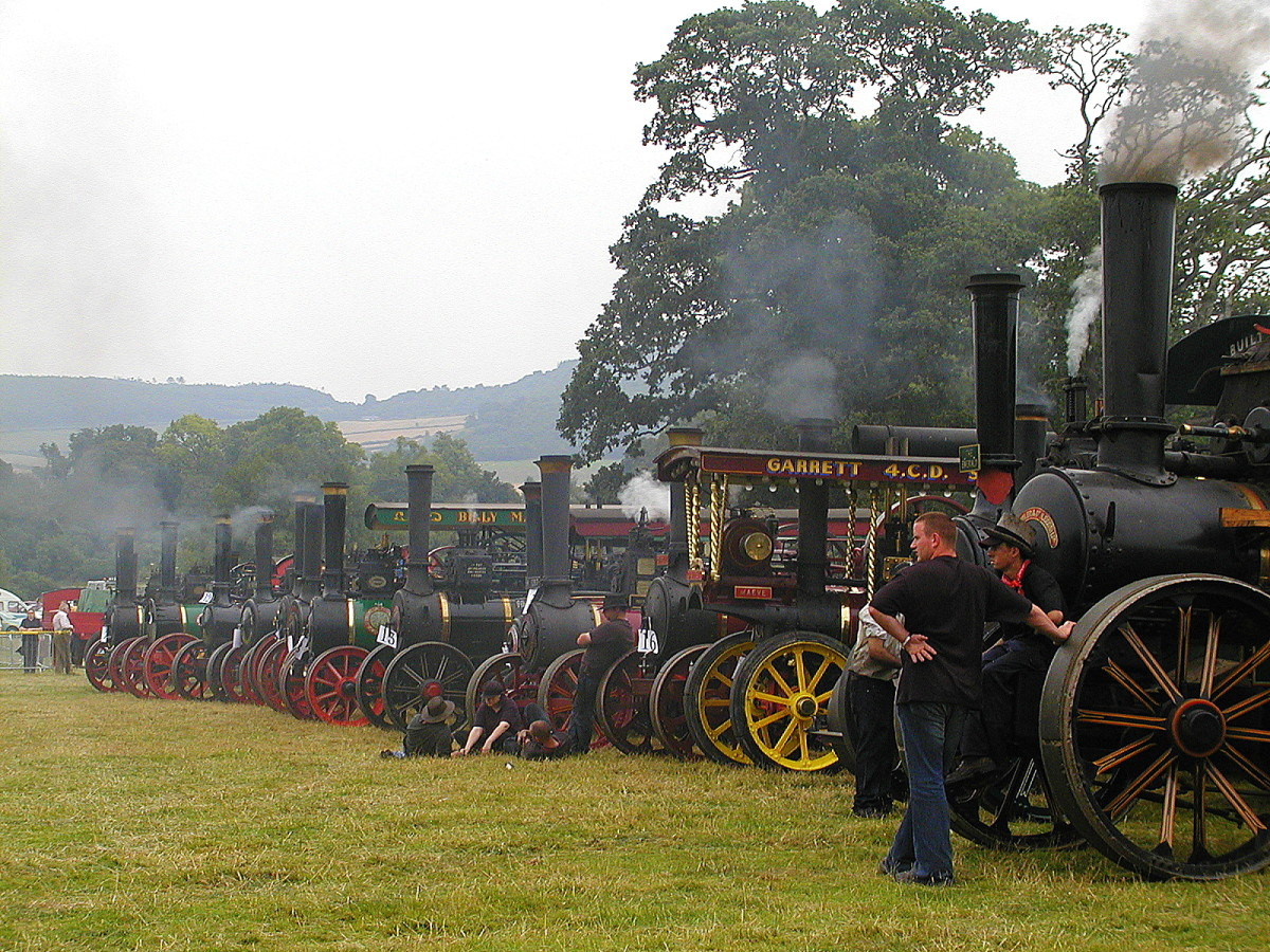 Tractor lineup at a steam rally in Stradbally, Ireland