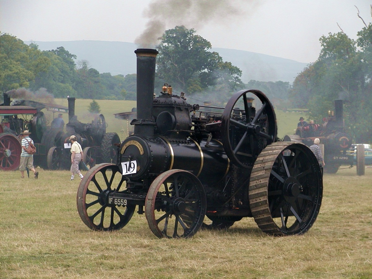 Steam tractor at a steam rally in Stradbally, Ireland