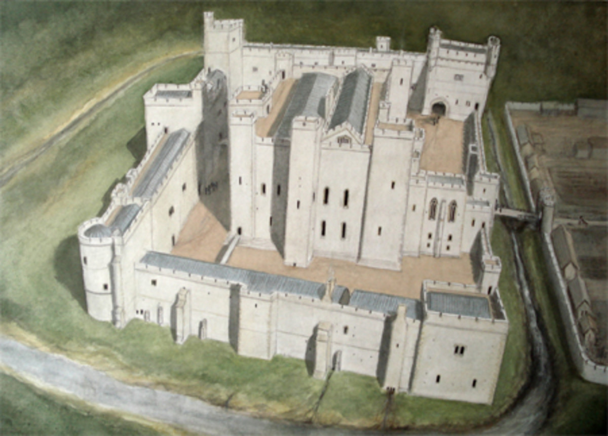Reconstruction of Middleham Castle in its heyday, a stronghold adapted for luxury living with feasting hall and all 'mod cons'