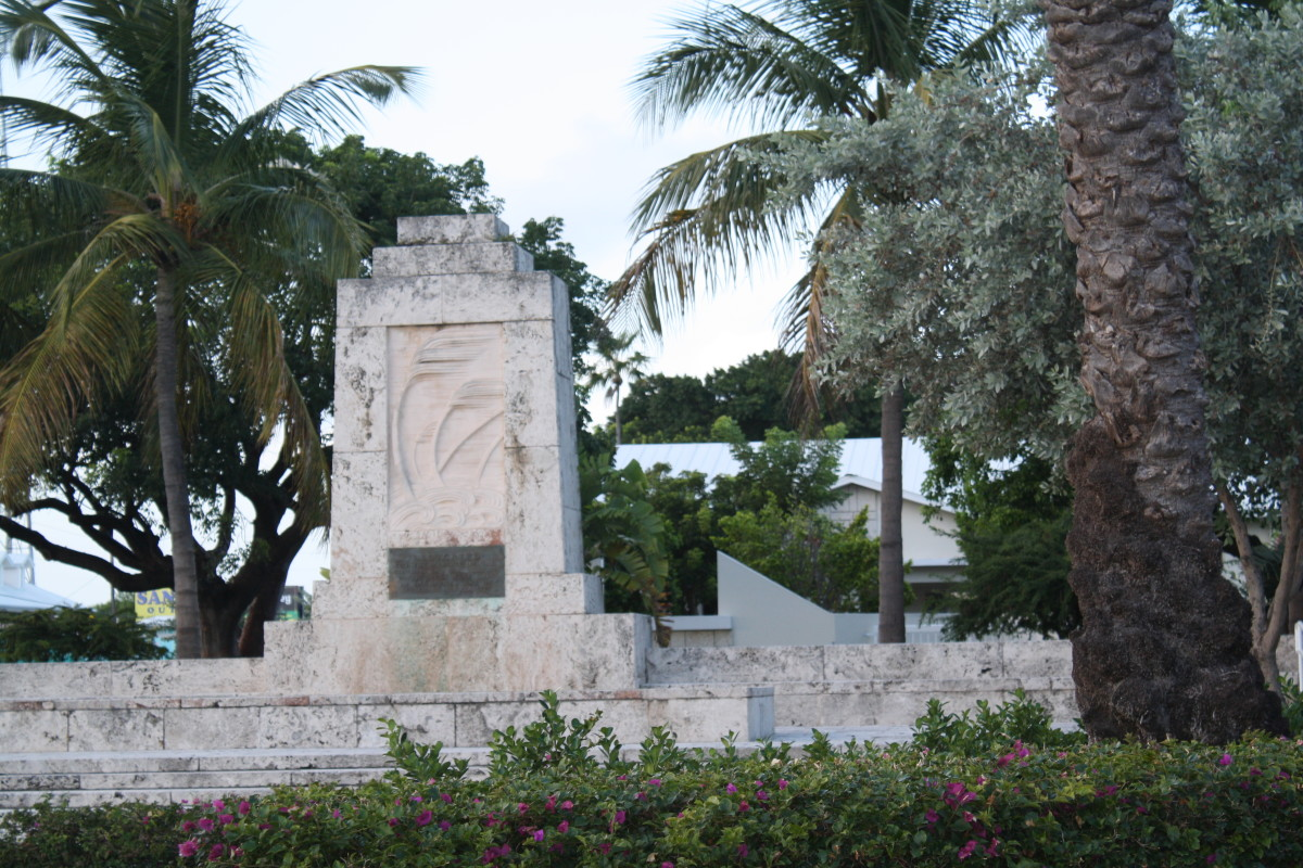 Monument erected to honor the people killed in The Hurricane of 1935.