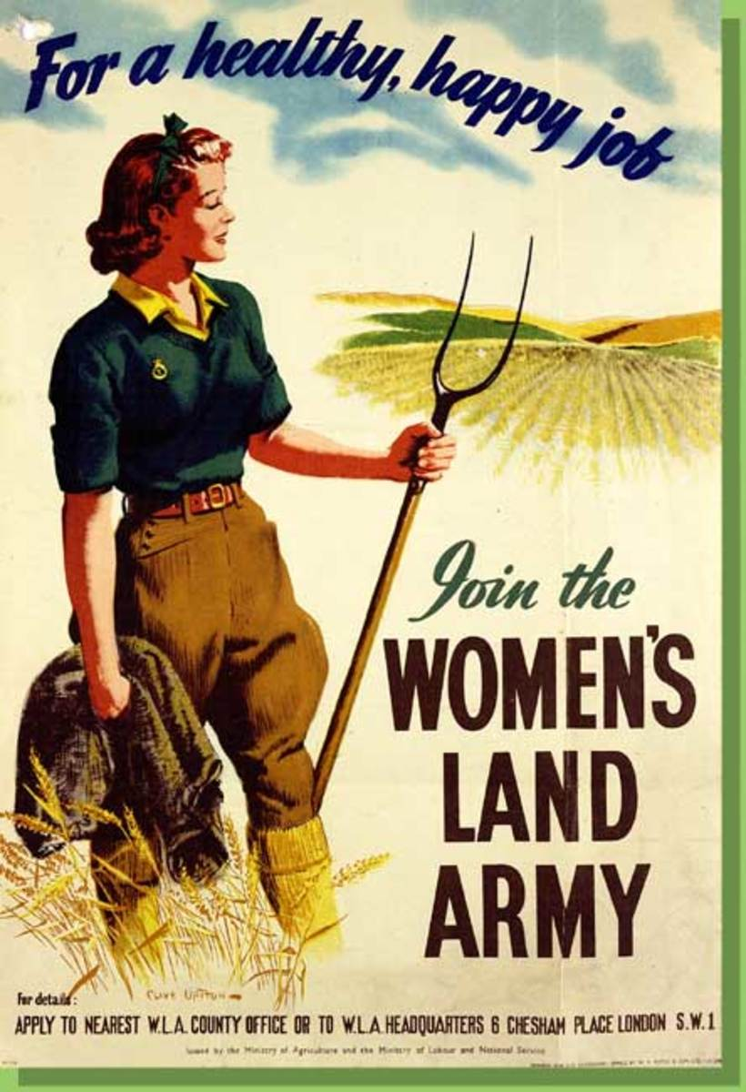 Poster for the Women's Land Army - usually referred to as 'Land Girls'