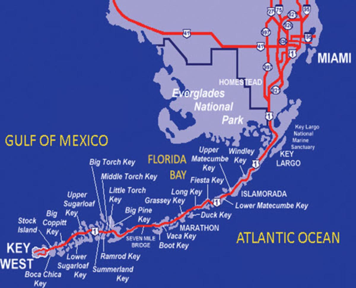 Map of Florida Keys