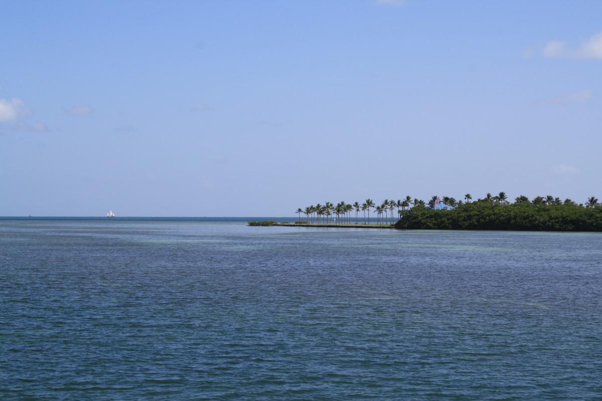Photo from shore onto the Atlantic Ocean.
