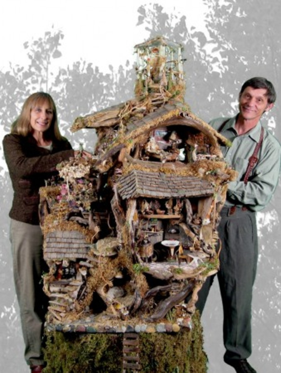 Debbie and Mike Schramer with Tree House (Photo Credit: Debbie Schramer)