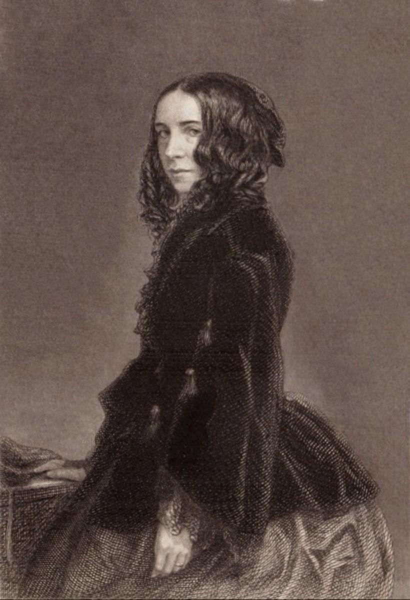 Engraving of Elizabeth Barret Browning -1871