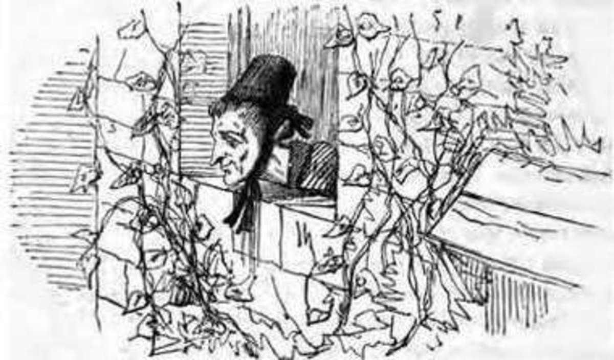 Edward Henry Wehnert: image of the witch from Rapunzel