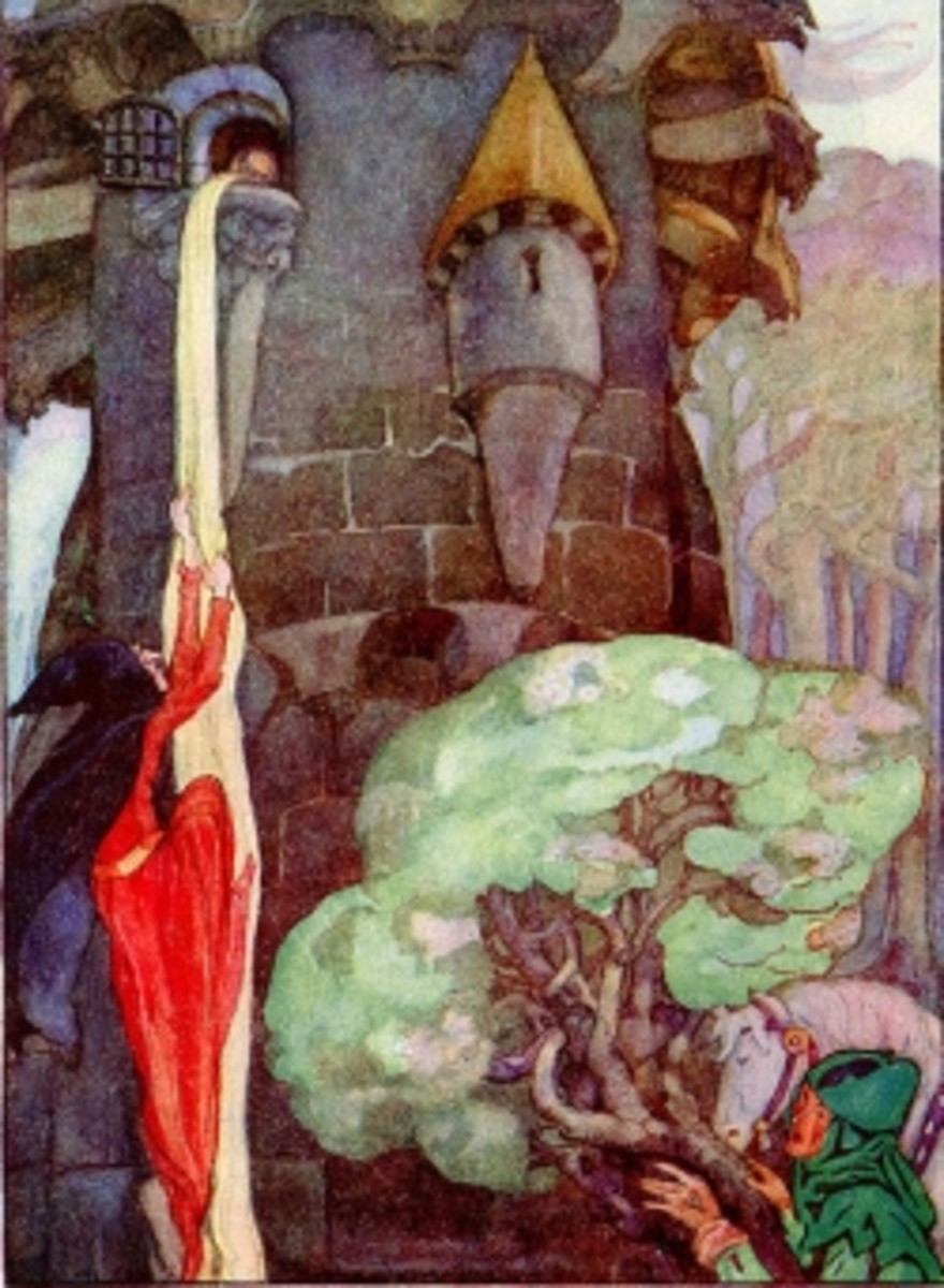 Picture of Rapunzel by Anne Anderson