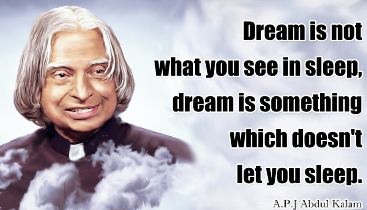 Quotes by Late Indian President Dr. Abdul Kalam
