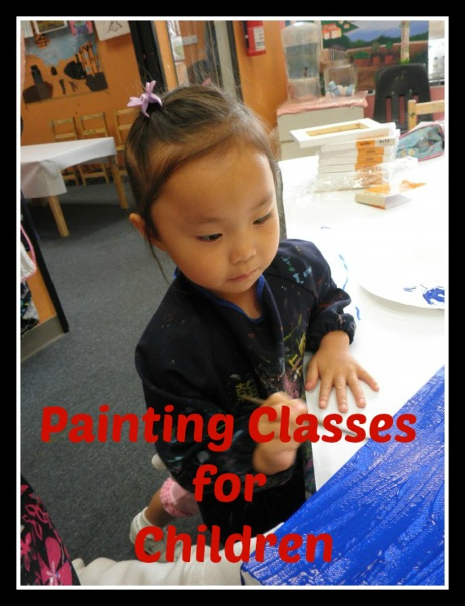 Painting classes for children at Green Forest Art Studio
