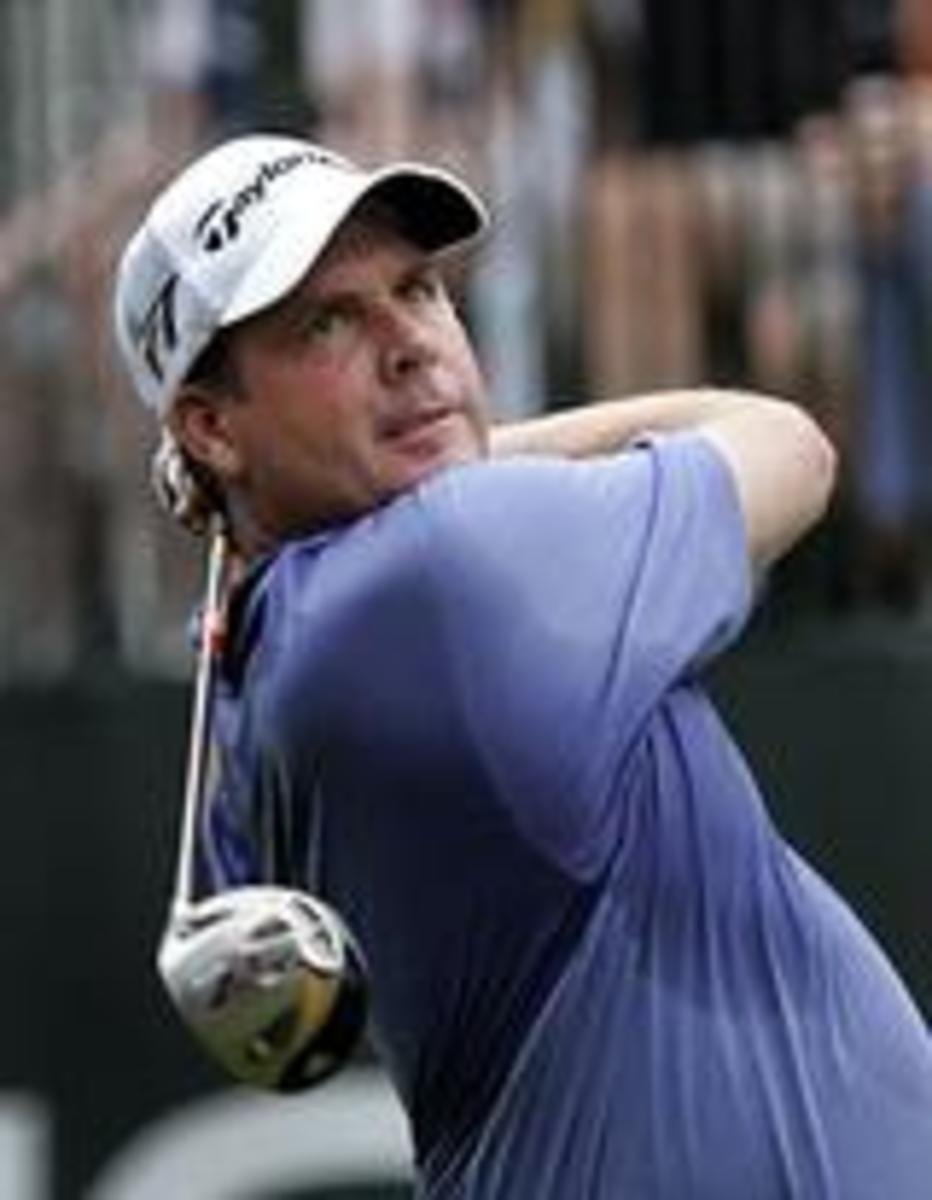 Meet Doug Barron. The lone scapegoat of the PGA tour PED anti-doping enforcement clown show. Offered up as a sacrifice in early Nov. 2009 for weaning off legal, prescribed beta-blockers and testosterone too slowly. Even his arms look innocent.