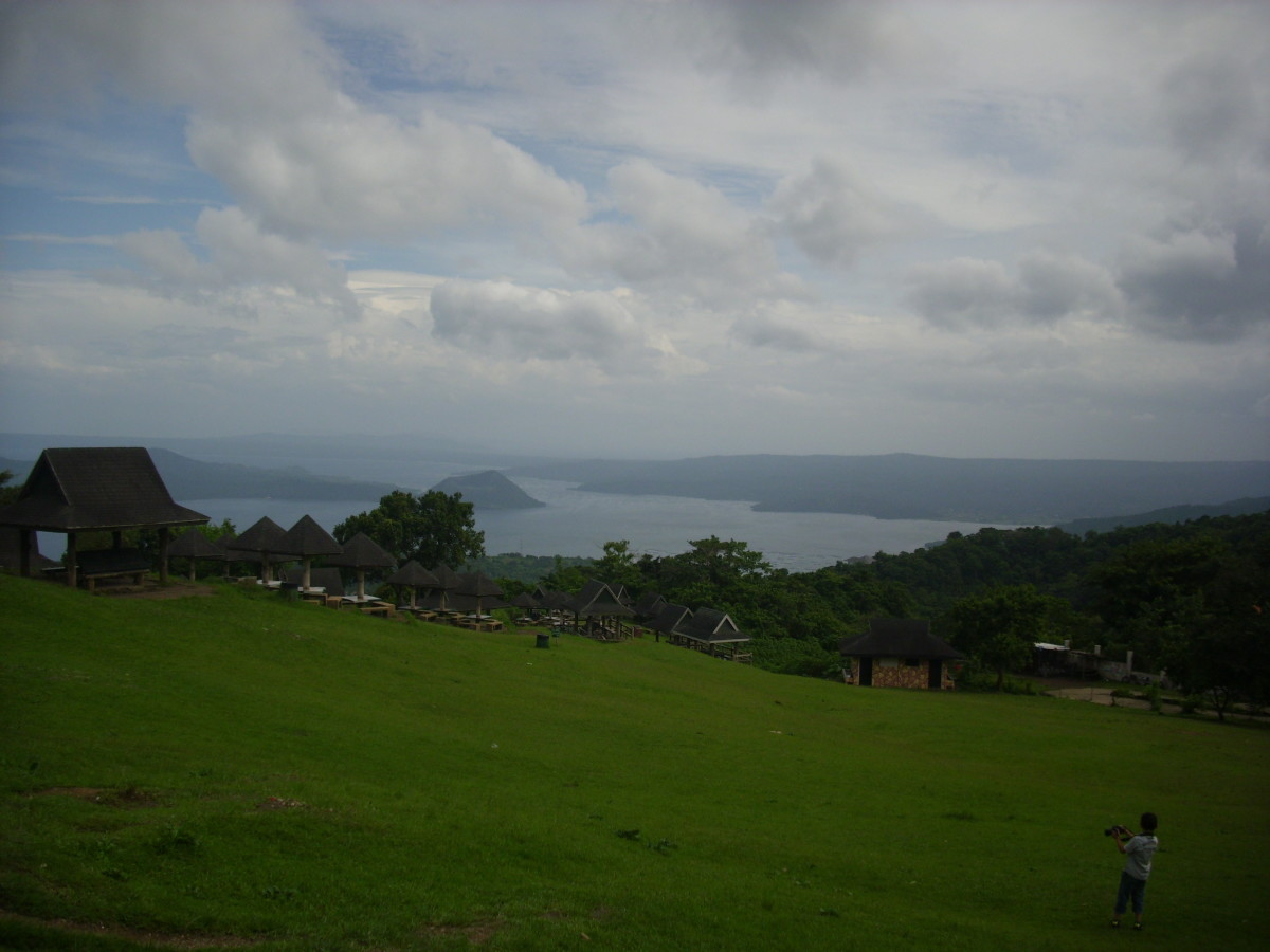 Picnic Grove in Tagaytay City  overlooking Taal Volcano at Taal Lake, Philippines