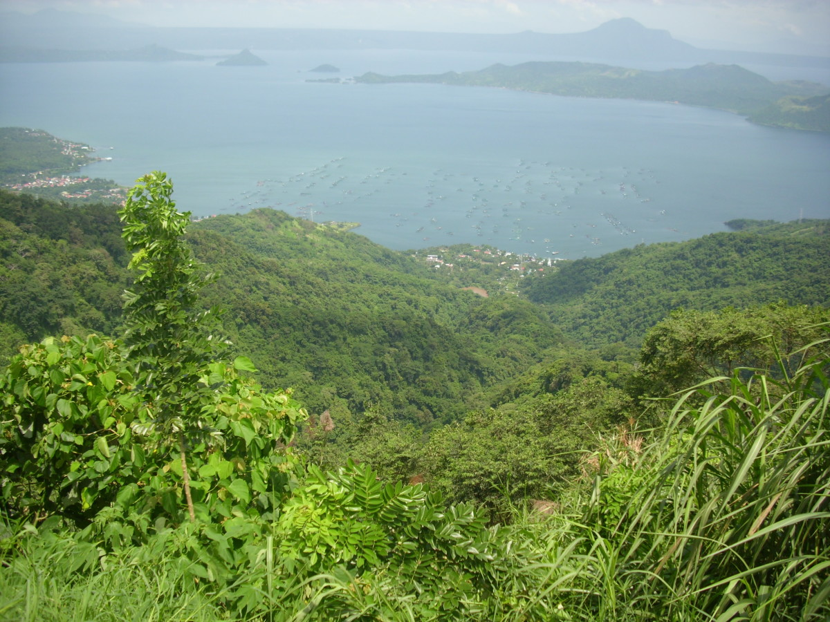 The scenic view of Taal Lake from Tagaytay City.
