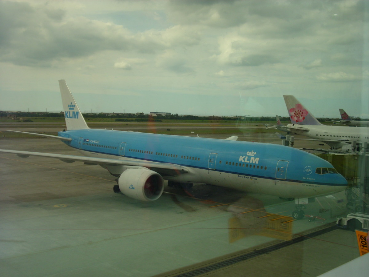 KLM at Schiphol Airport Amsterdam, The Netherlands bound for Manila Philippines.