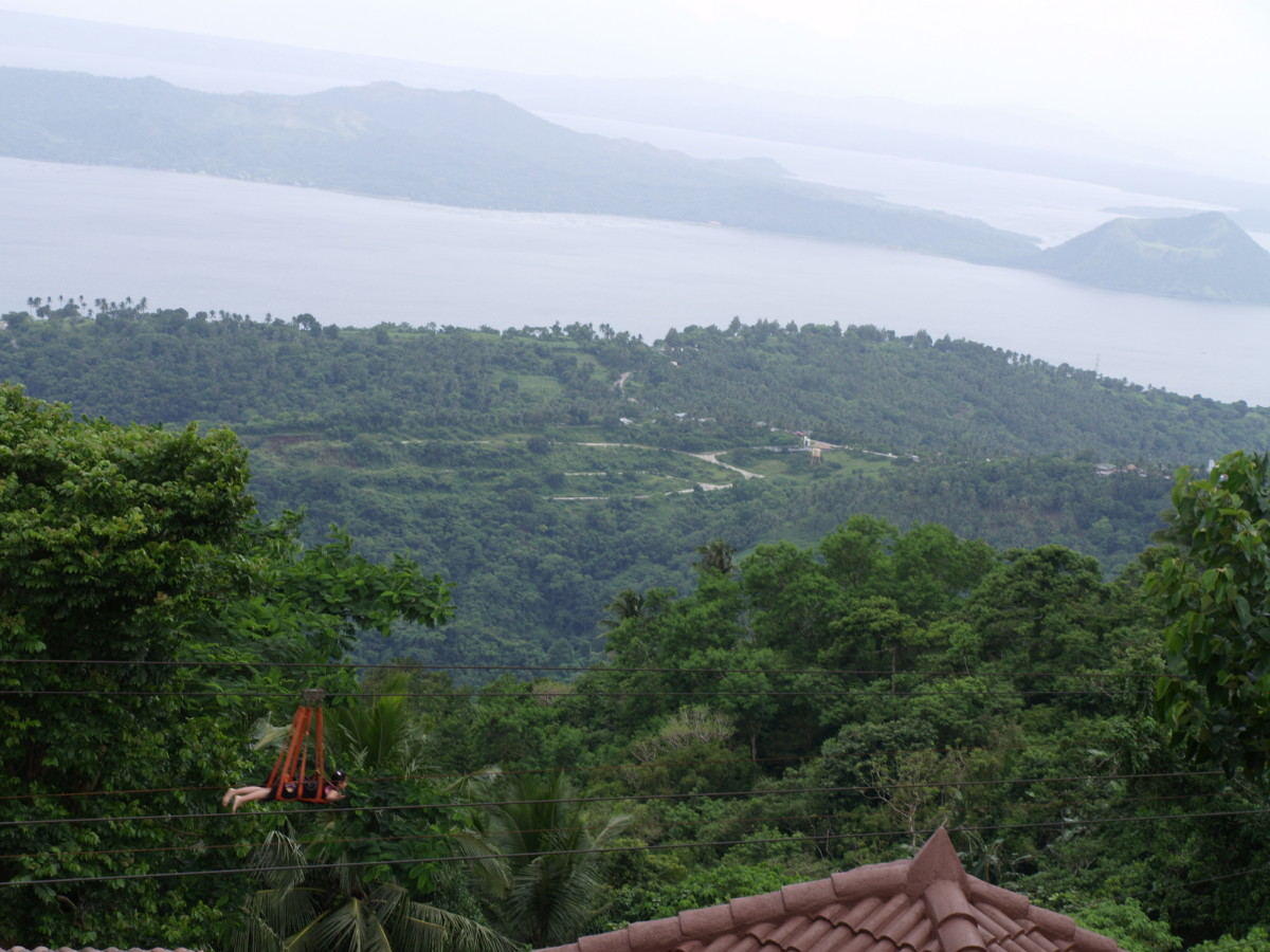 Taal Lake and Taal Volcano from the view point.