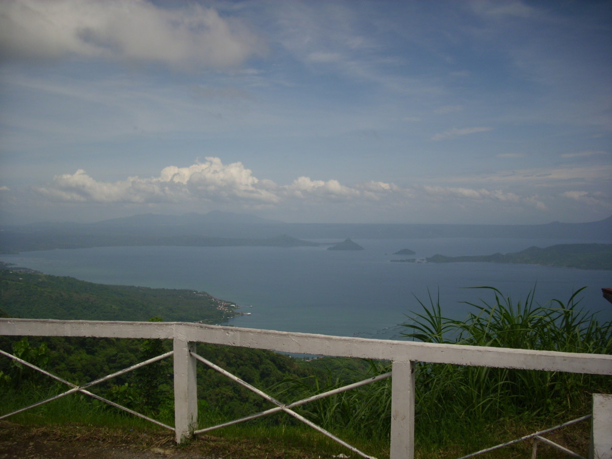 The scenic view of Taal Lake from Tagaytay City