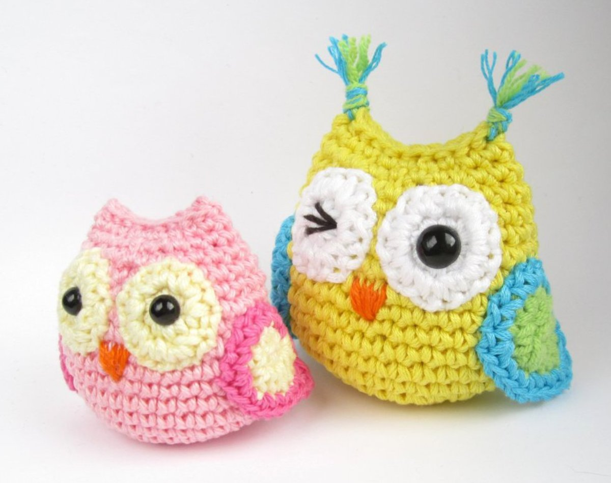Small Crocheted Owls