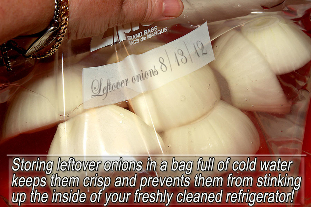 How to safely store leftover onions
