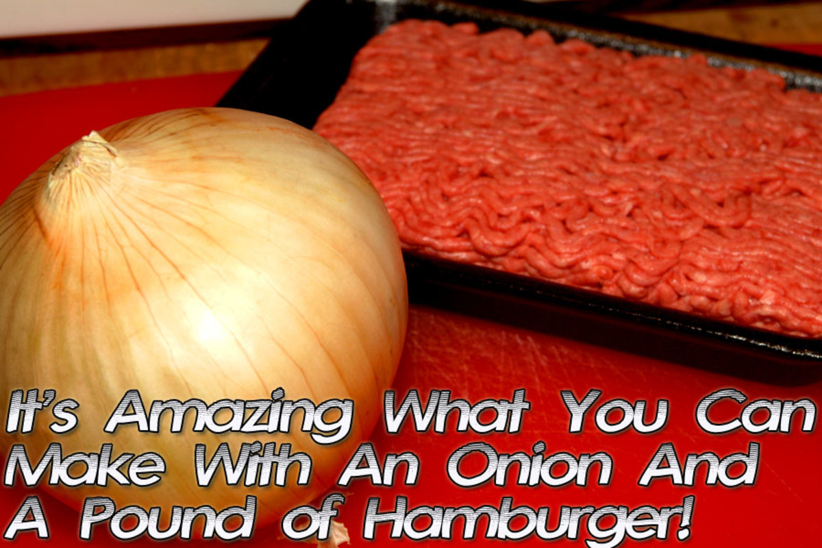 Onion and hamburger make for some pretty great meals!