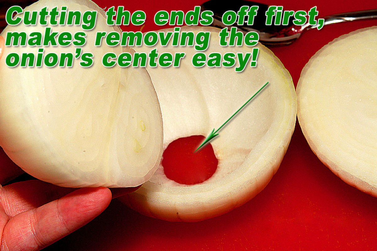 """Trim ends flat. Remove center leaves, so that 1/2"""" of outer edge for support remains."""