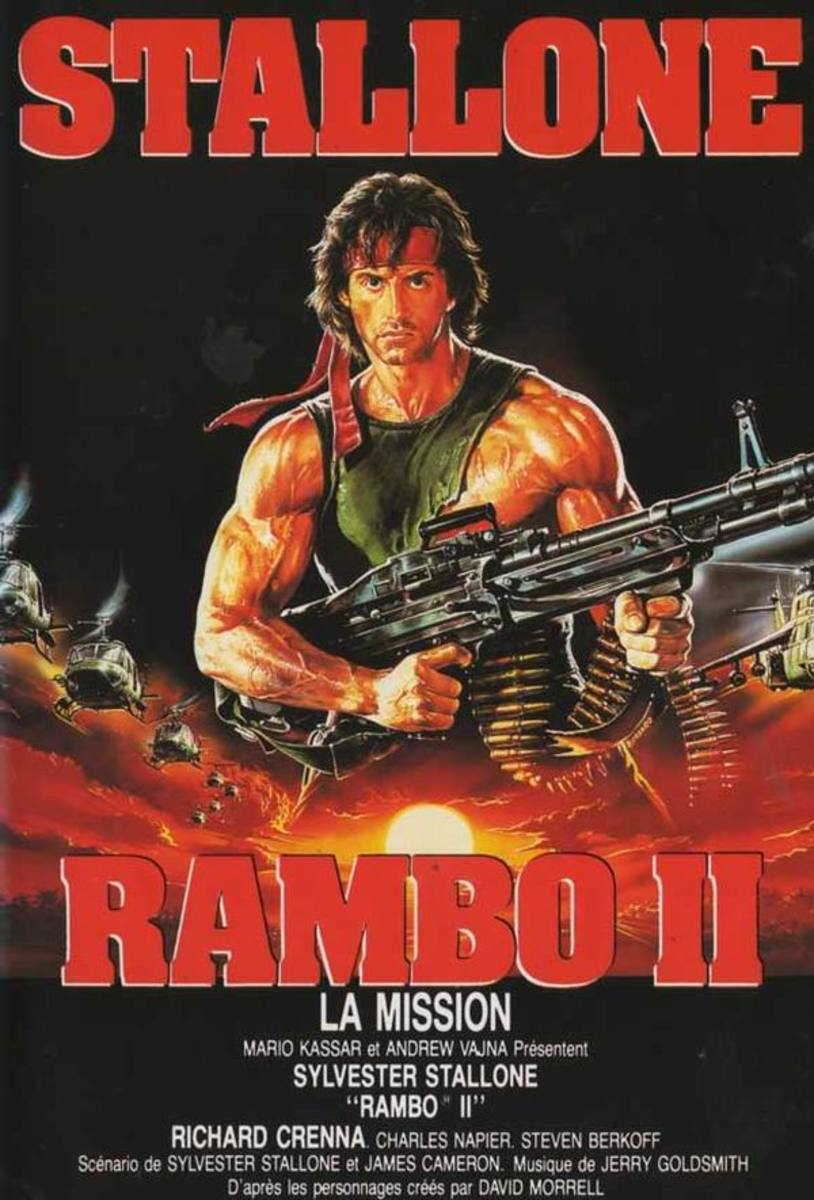 Rambo II (1985) French poster
