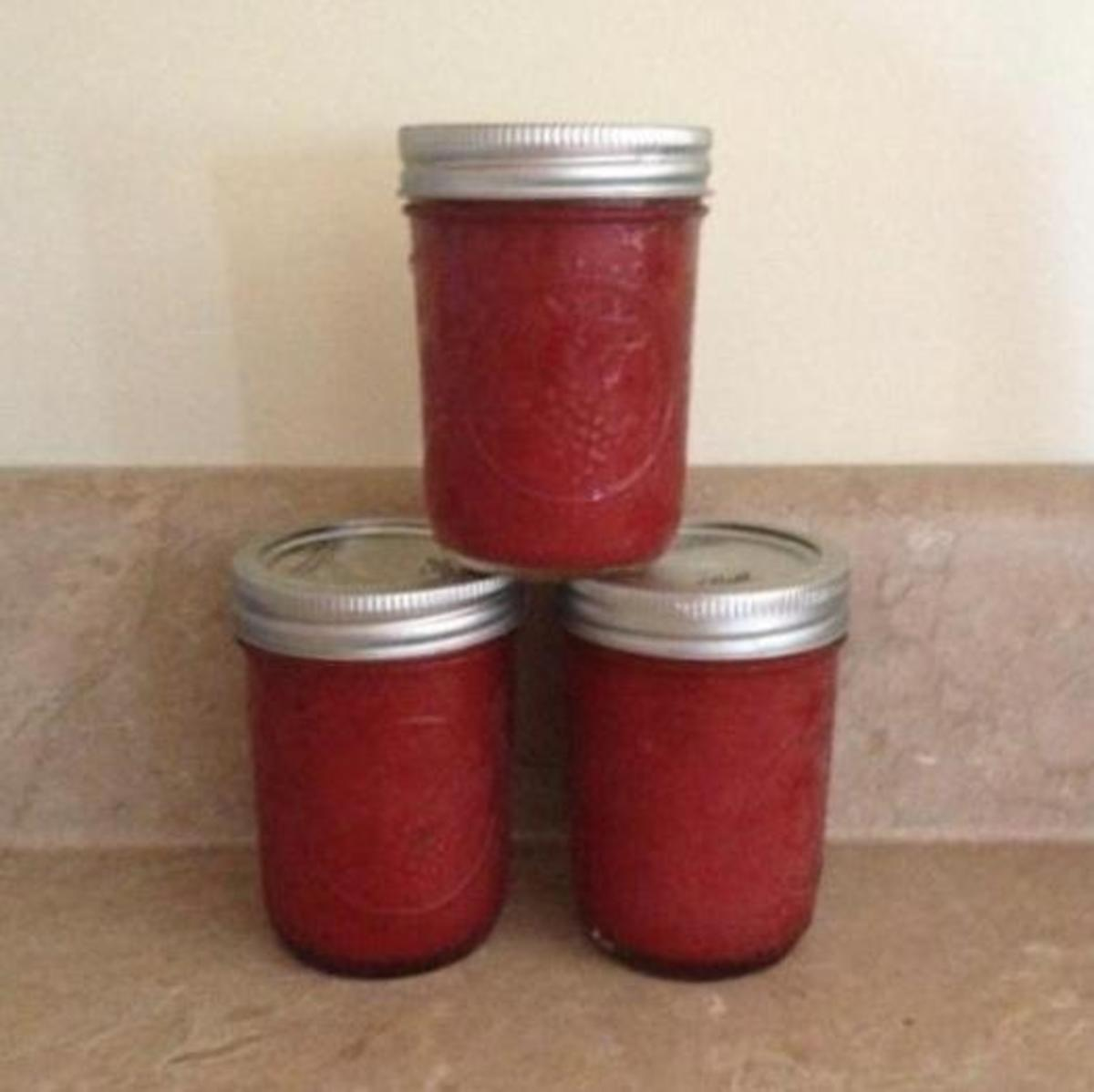 This is all I have left of the jam I made this summer.