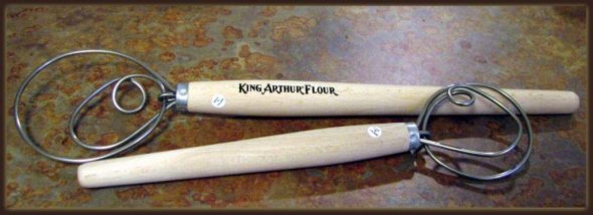 Two Sizes of Dough Whisks (King Arthur Flour)