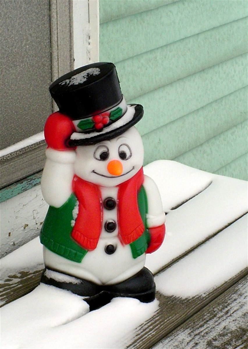 This Frosty the Snowman won't melt.
