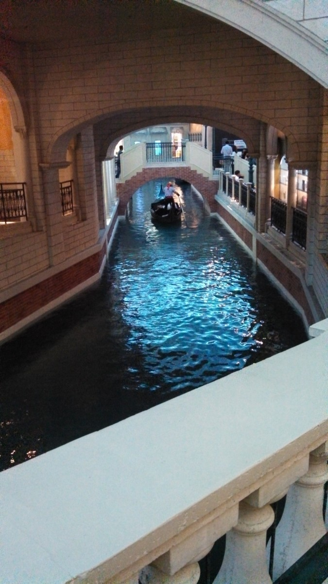 Nice picture of canals in the Venetian.