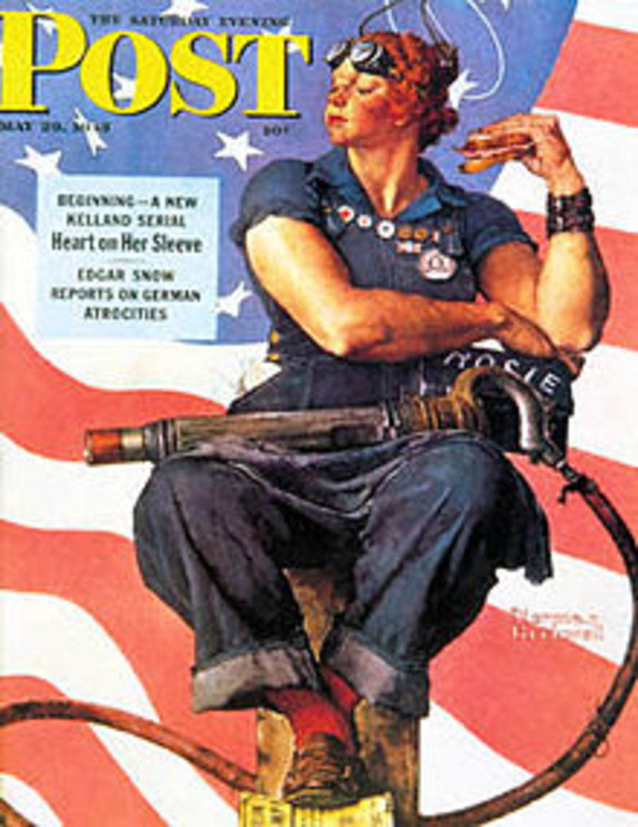 Norman Rockwell's Rosie the Riveter Painting