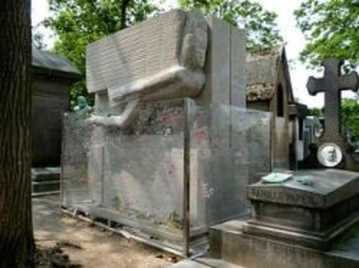 Oscar Wilde's grave is one of tourist attractions in Paris