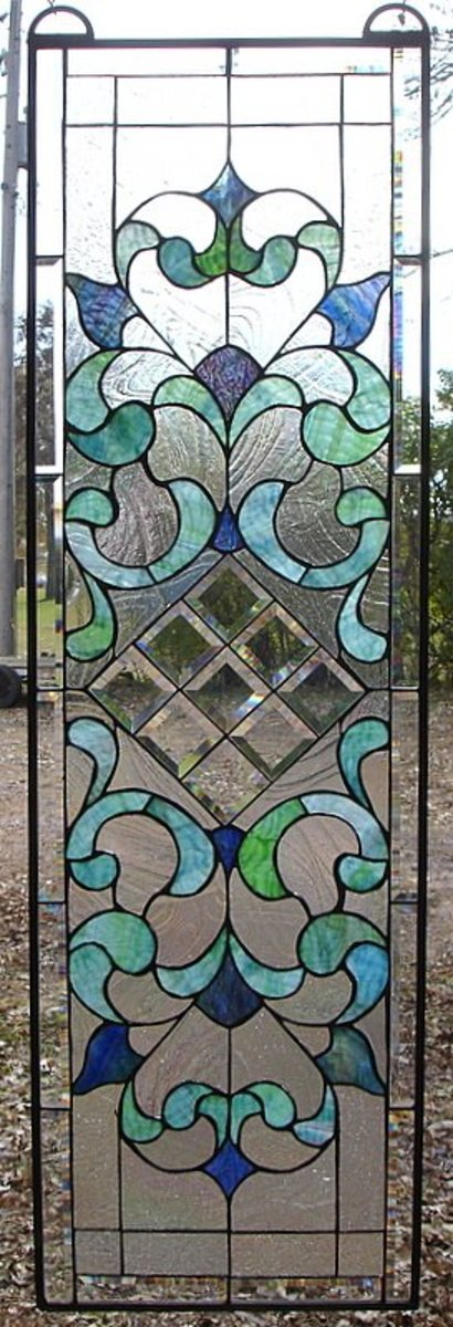 colorful leaded glass window
