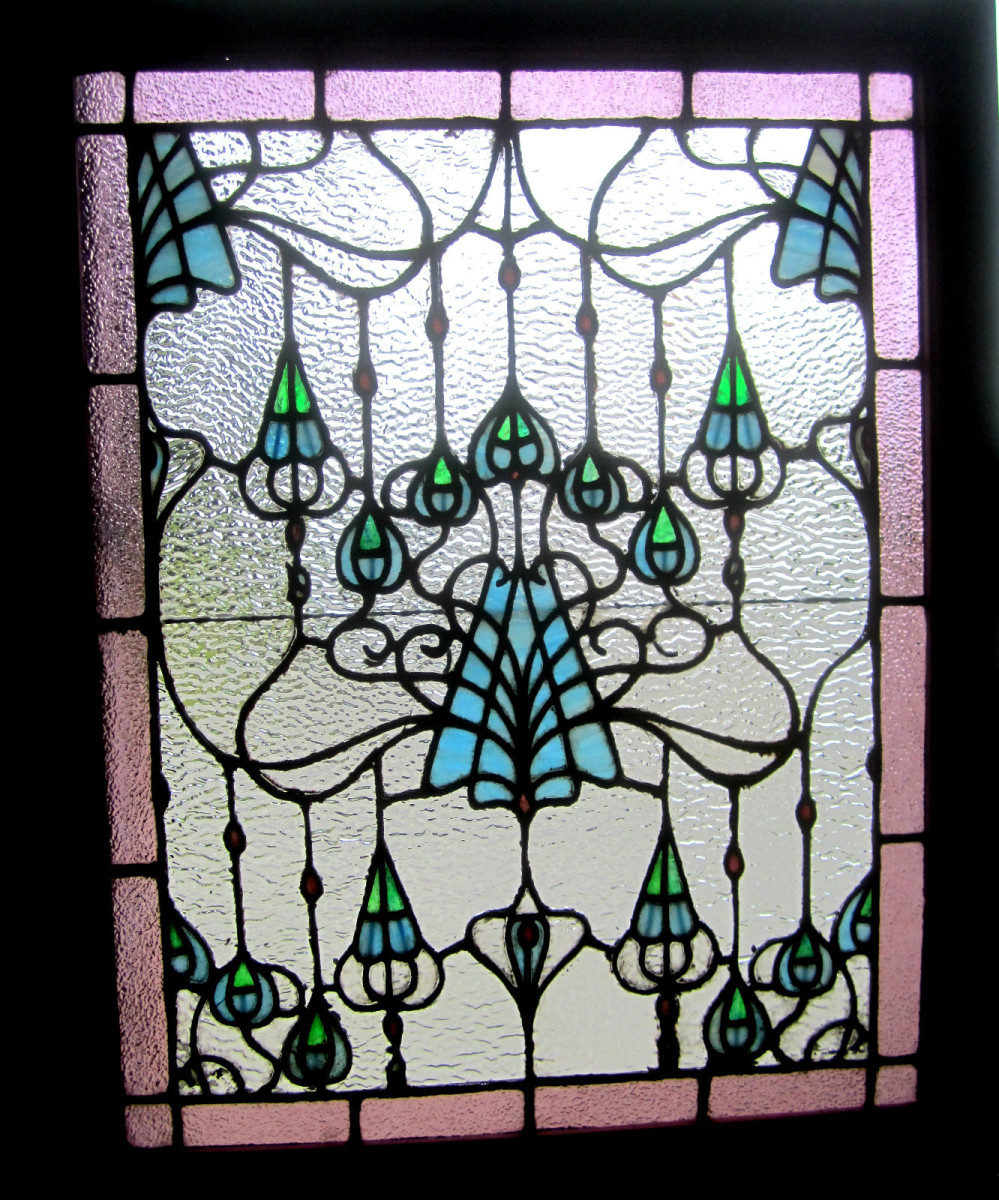 colorful leaded glass window