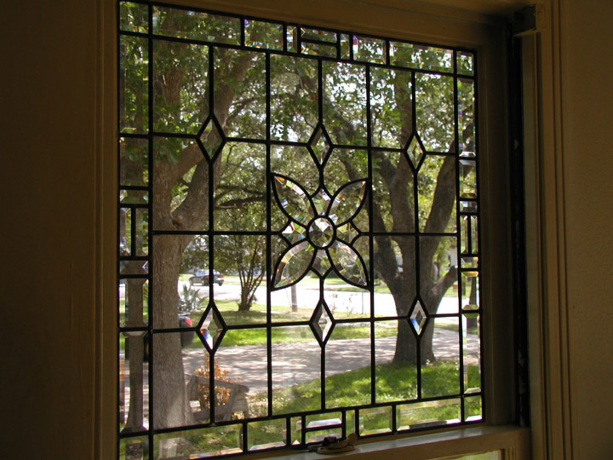 Clear Leaded Glass with Bevels