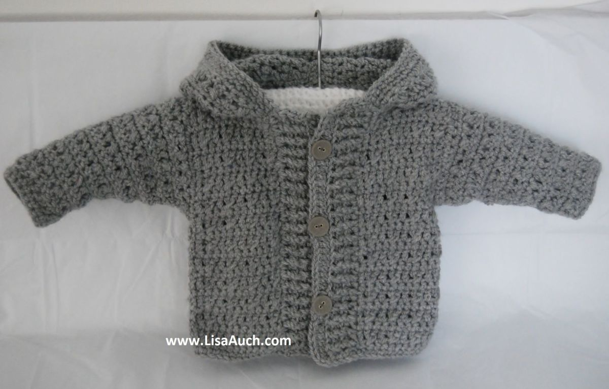 Cute Boys hooded cardigan crochet pattern (c)http://www.crochet-patterns-free.com/