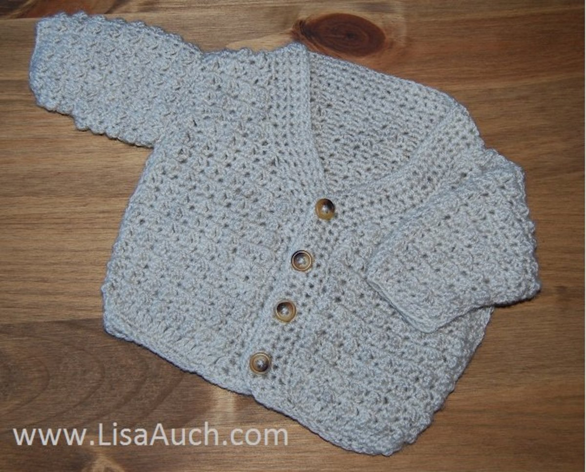 Cute Boys cardigan crochet pattern