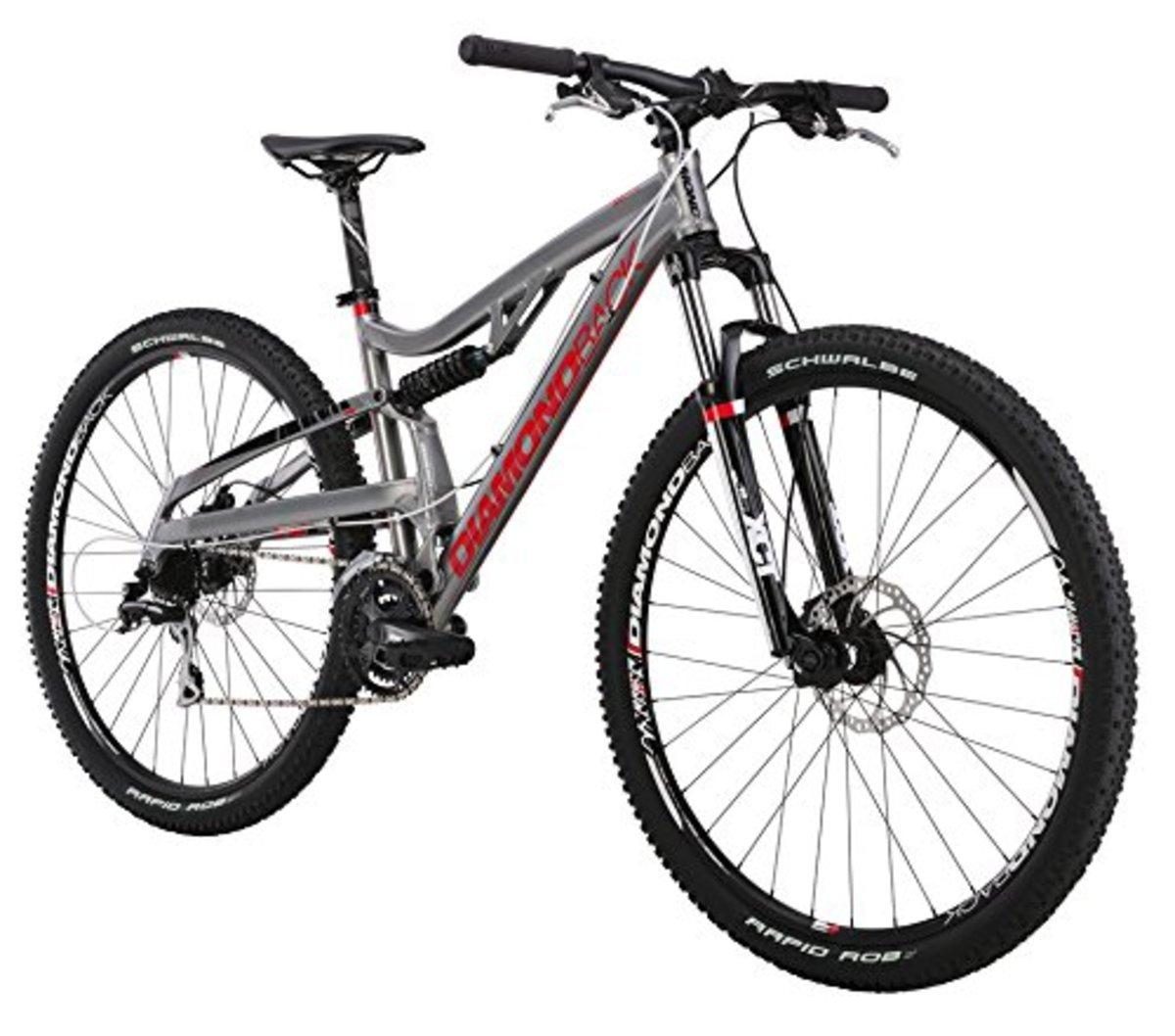 Diamondback 2015 Recoil Comp full suspension mountain bike.