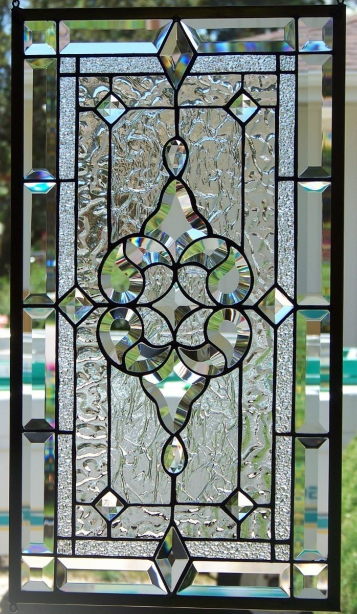 beautiful beveled glass leaded window
