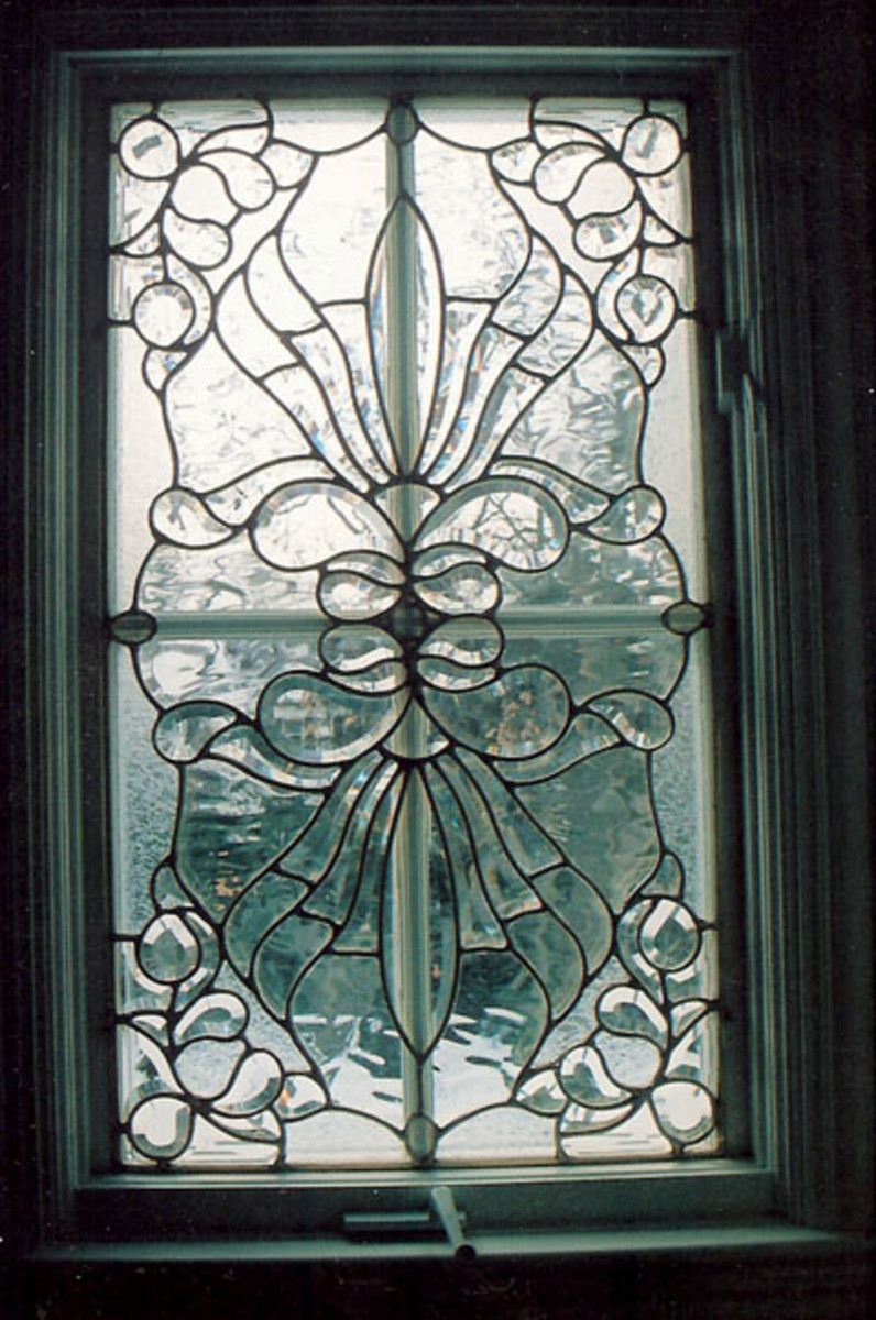 Textured Glass in a Victorian Design