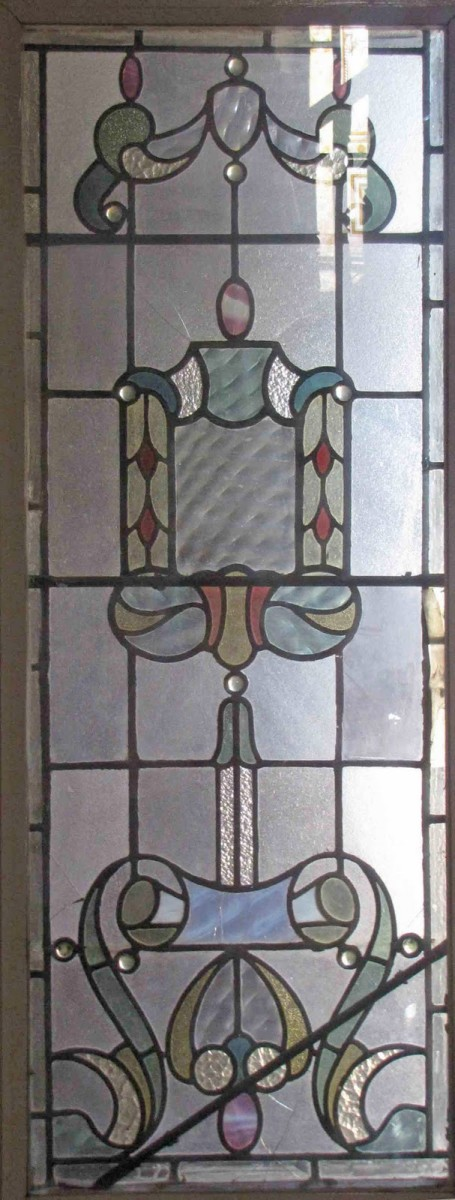Slight color adds even more charm to this antique leaded glass window
