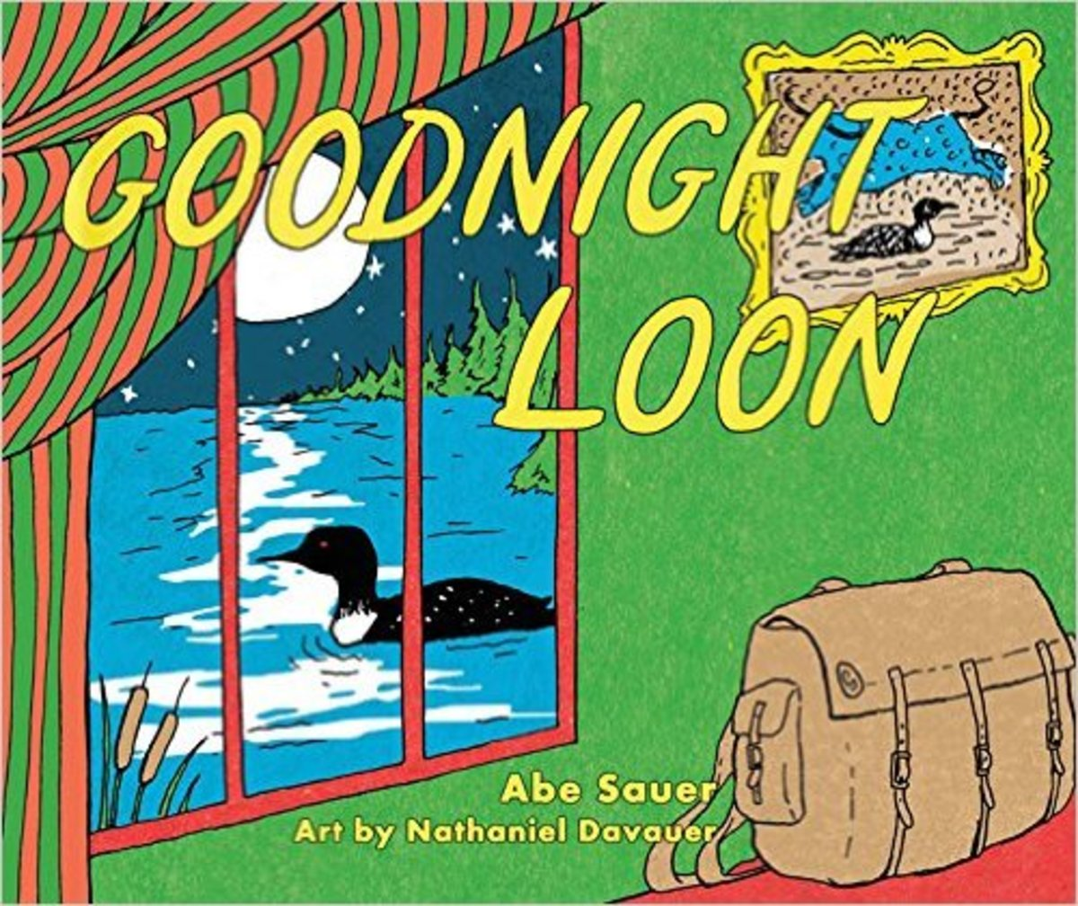 Goodnight Loon Board book by Abe Sauer