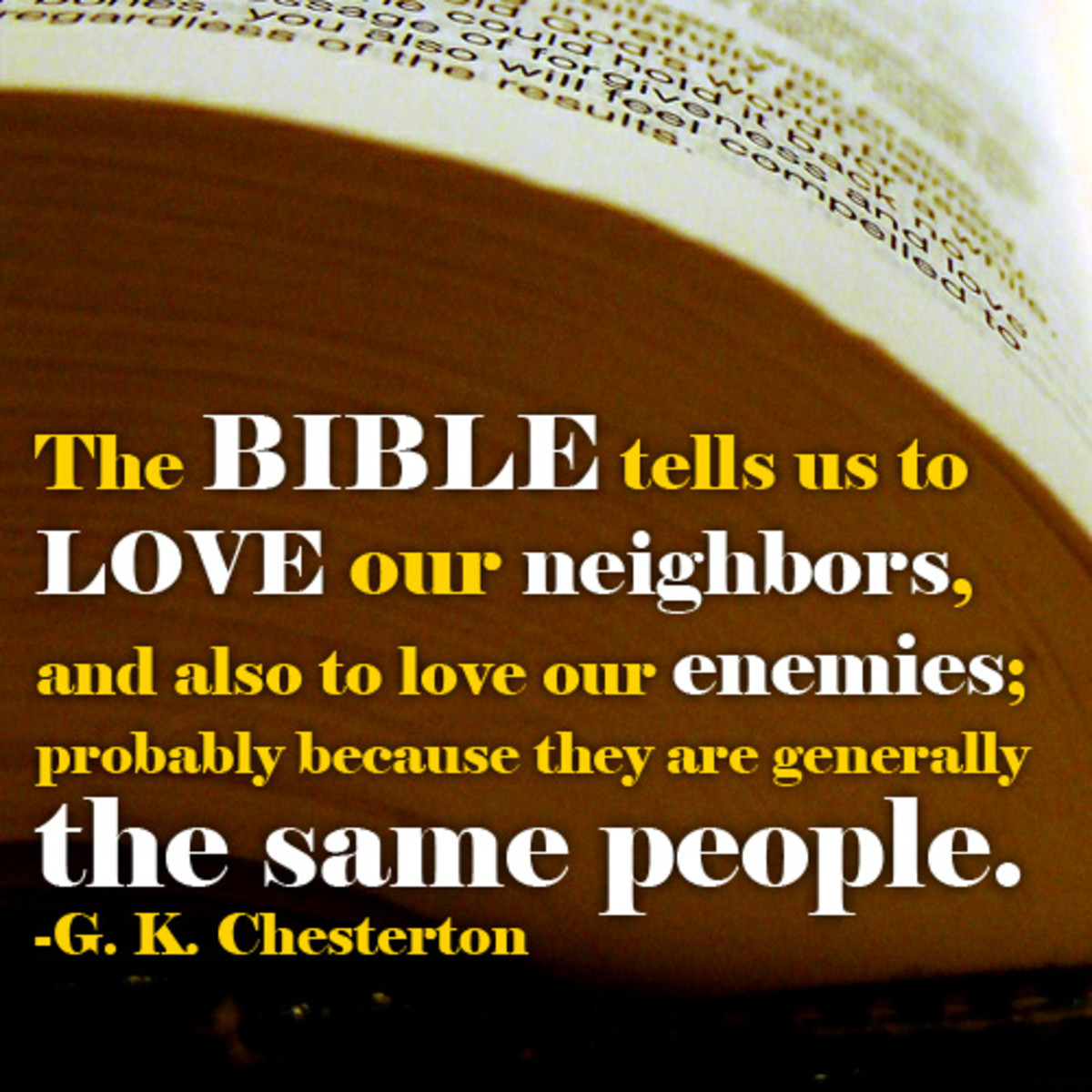 Quote from G K Chesterton