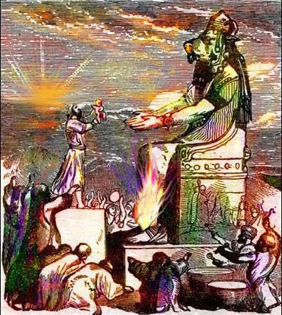 Babies Sacrificed to Baal Moloch in Carthage
