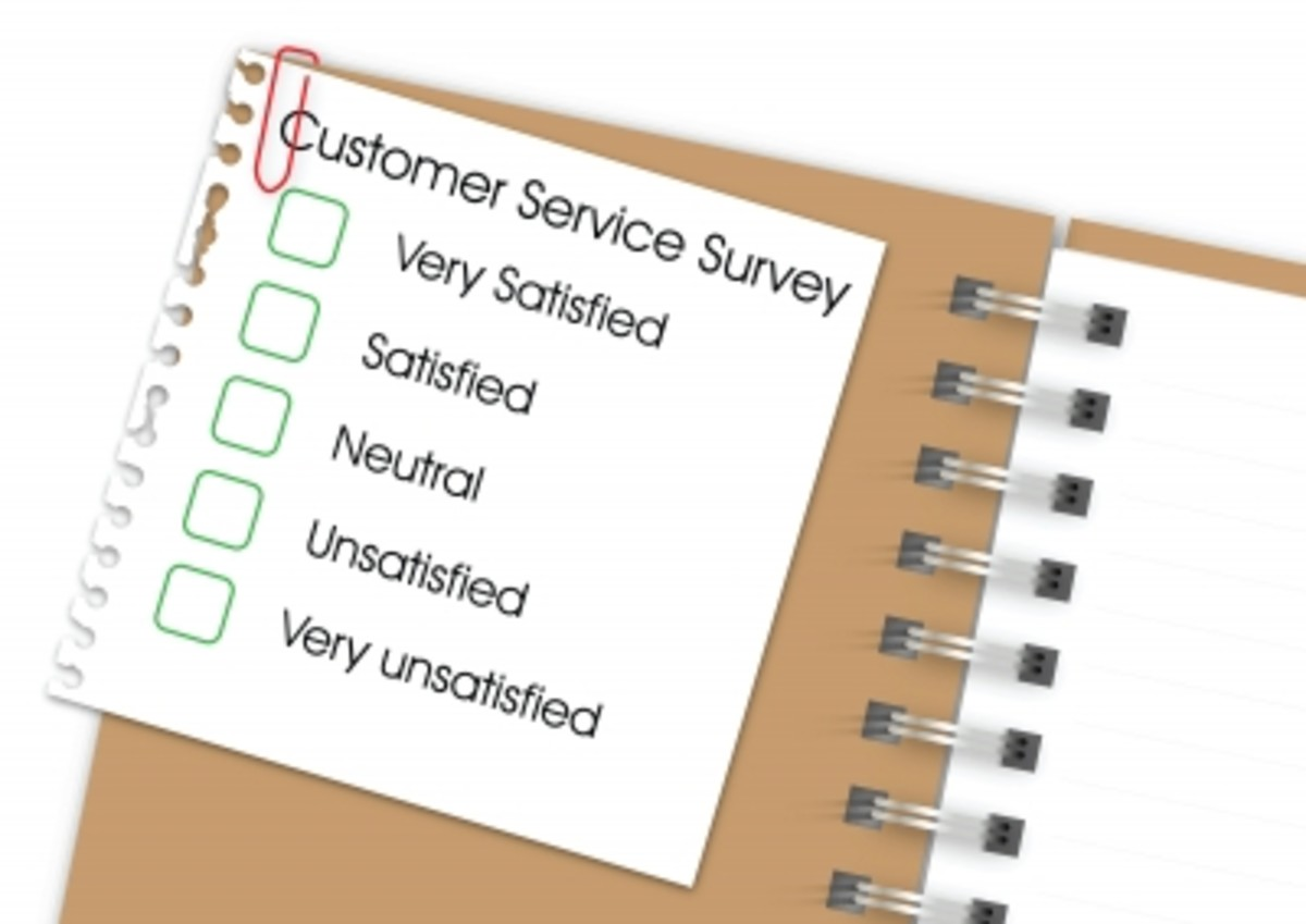 Evaluation of the customer service