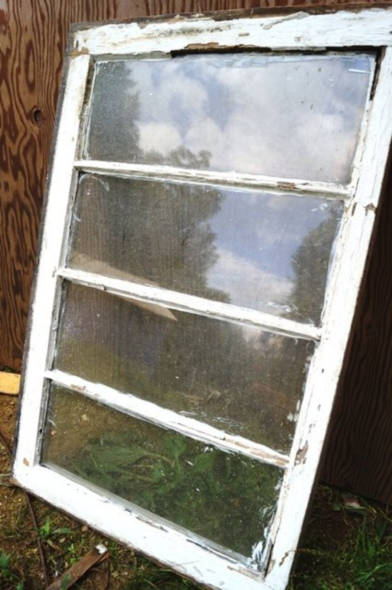 This old window has a lot of potential for abstract flowers.
