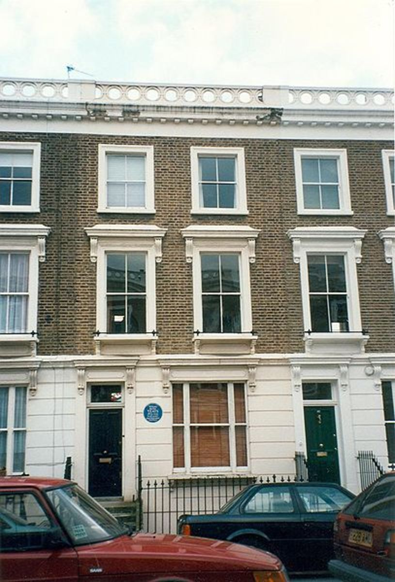 London flat where Sylvia Plath killed herself.